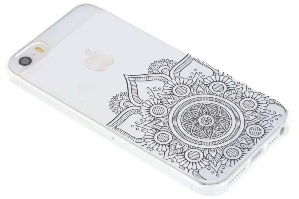 Zwart mandala design TPU hoesje iPhone 5 / 5s / SE