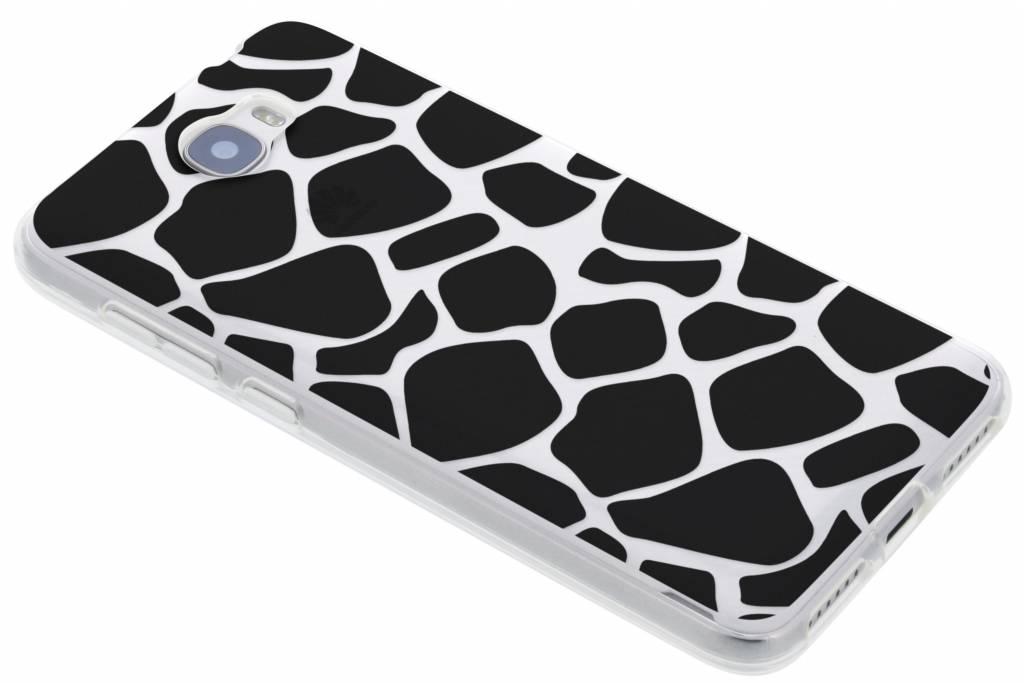 Zwart dierenprint design Giraffe TPU hoesje voor de Huawei Y5 2 / Y6 2 Compact