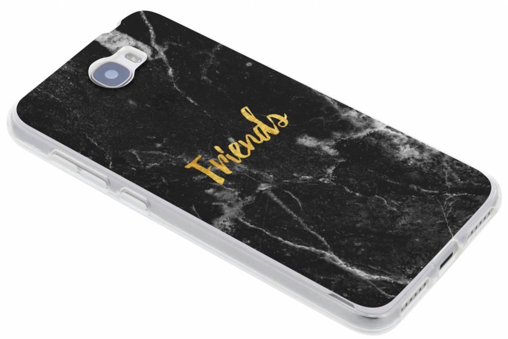 BFF Black Marble Love TPU hoesje voor de Huawei Y5 2 / Y6 2 Compact