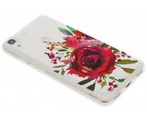 Red Rose TPU hoesje Huawei Y6