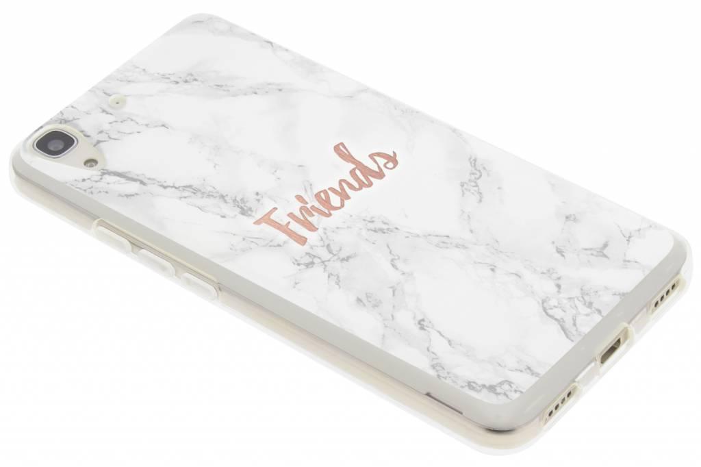 BFF White Marble Love TPU hoesje voor de Huawei Y6