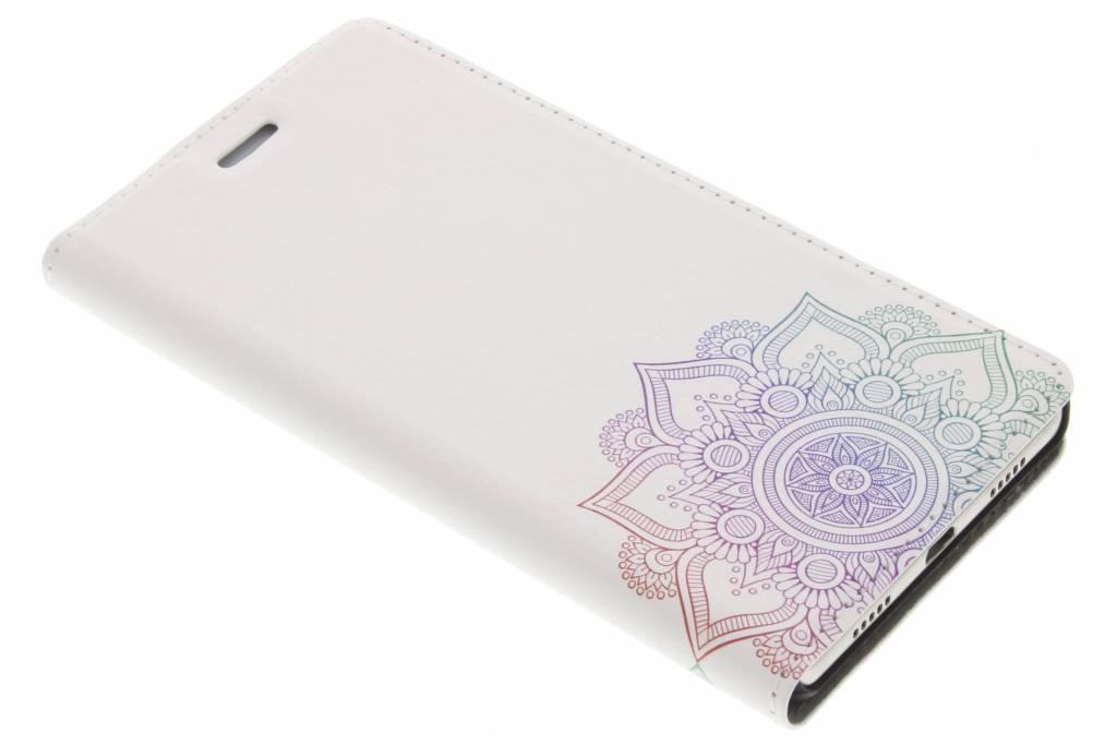 Multicolor Mandala Design Booklet voor de Huawei P8 Lite