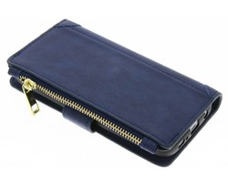 Blauw luxe portemonnee hoes Samsung Galaxy S6 Edge