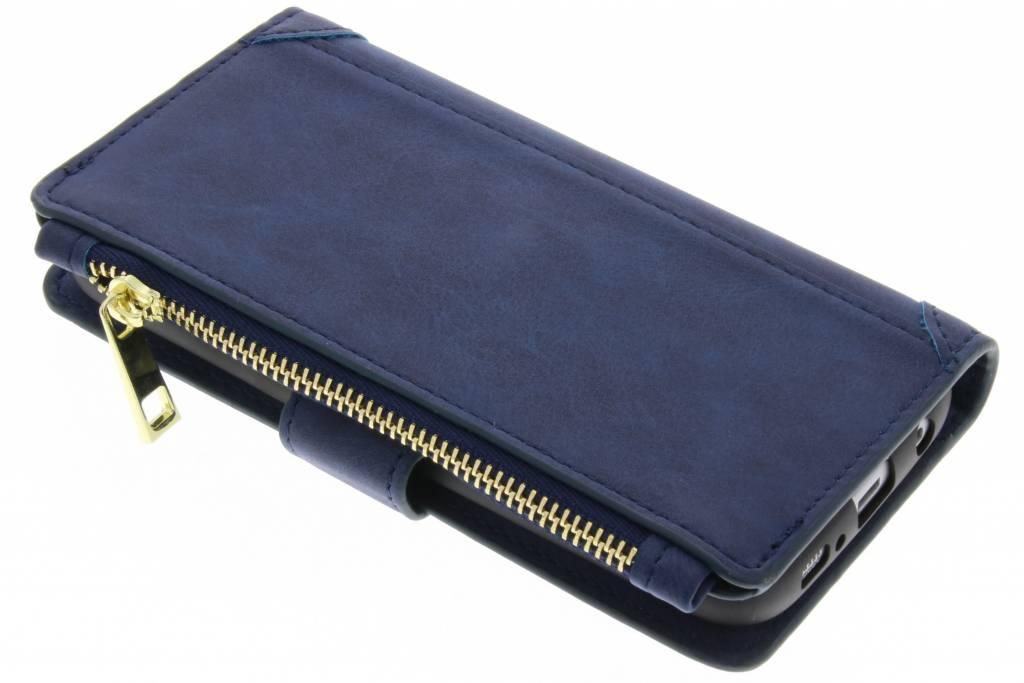 Blauwe luxe portemonnee hoes voor de Samsung Galaxy S6 Edge