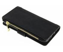 Zwart luxe portemonnee hoes Samsung Galaxy S6 Edge