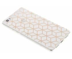 Cubes design TPU hoesje Huawei P8 Lite