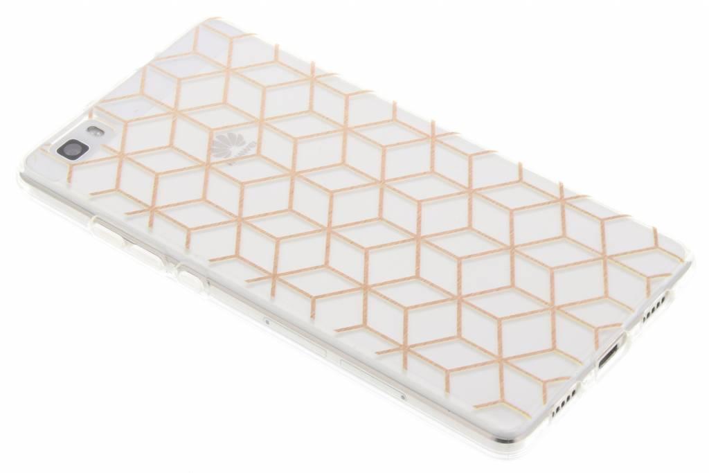 Cubes design Rose Gold TPU hoesje voor de Huawei P8 Lite