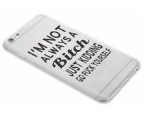 Quote design TPU hoesje iPhone 6(s) Plus