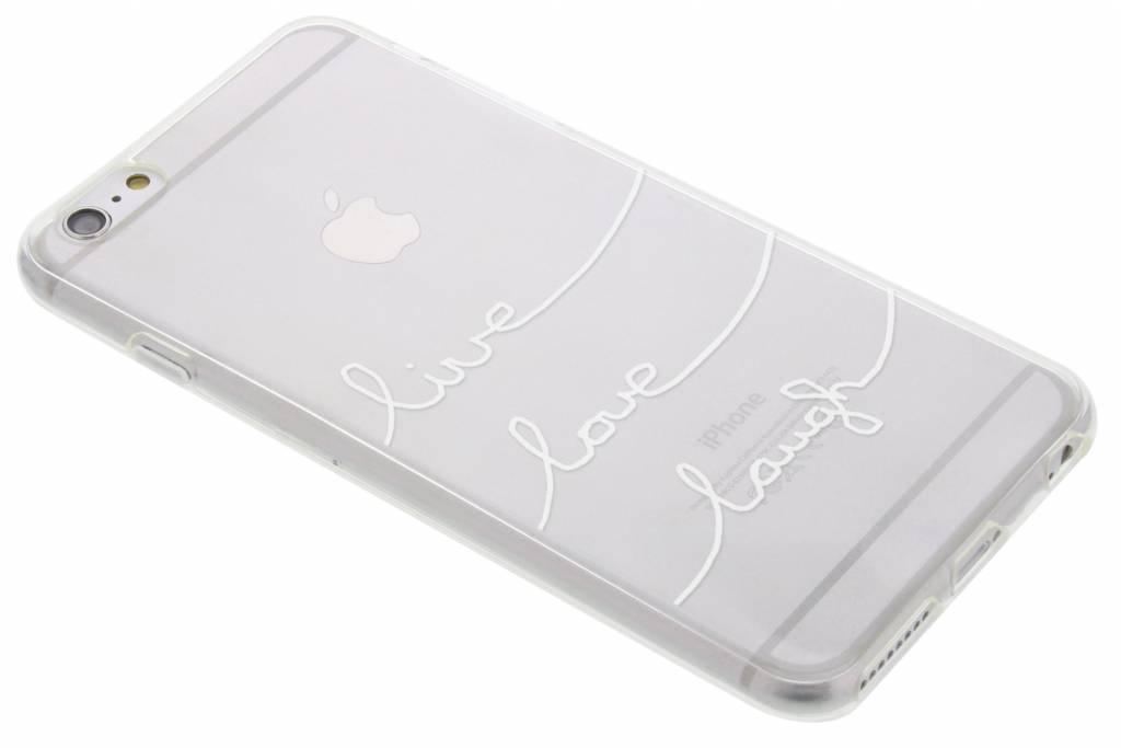 Quote design Live Love Laugh TPU hoesje voor de iPhone 6(s) Plus