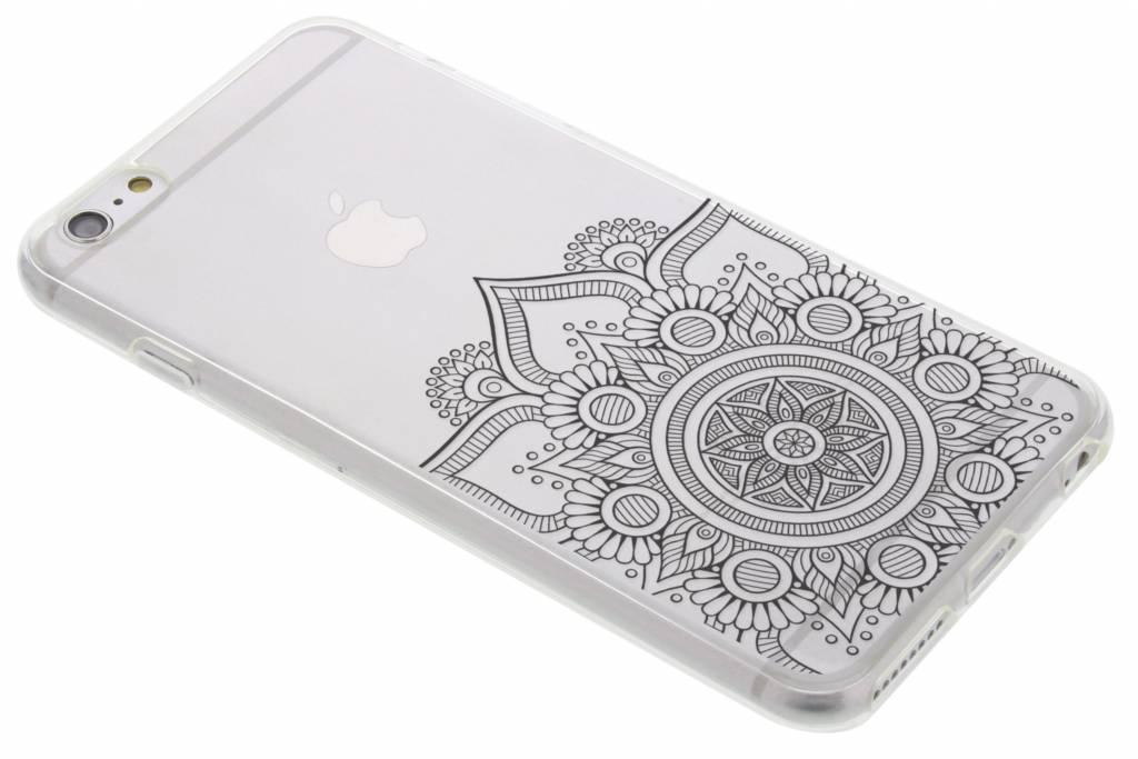 Zwart mandala design TPU hoesje voor de iPhone 6(s) Plus