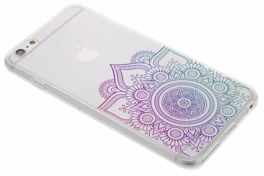 Multicolor mandala design TPU hoesje voor de iPhone 6(s) Plus