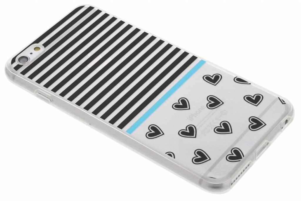 Streep design TPU siliconen hoesje voor de iPhone 6(s) Plus