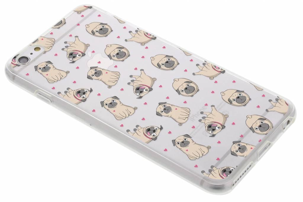 Pug LoveTPU hoesje voor de iPhone 6(s) Plus