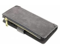 Grijs luxe portemonnee hoes LG G6