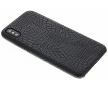 Zwart slangen TPU case iPhone Xs / X