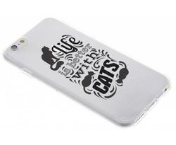 Quote design TPU hoesje iPhone 6 / 6s