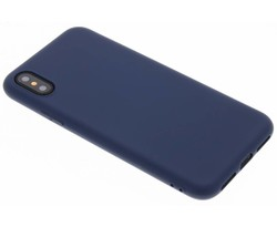 Donkerblauw Color TPU hoesje iPhone X