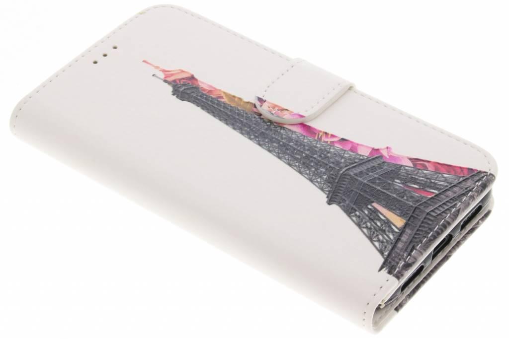 Eiffeltoren design TPU booktype hoes voor de iPhone Xs / X