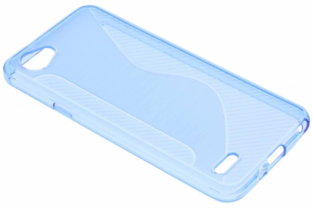 Blauw S-line TPU hoesje voor de LG Q6