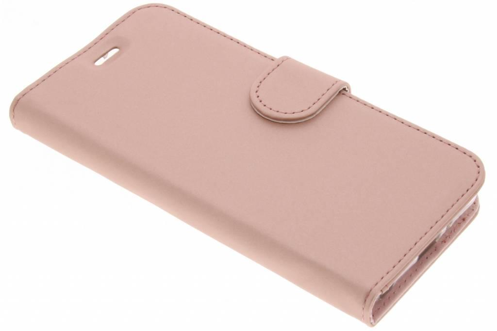 Accezz Rosé Gouden Wallet TPU Booklet voor de LG Q6