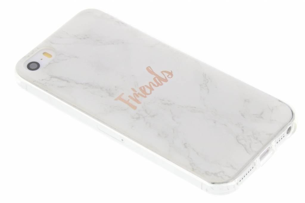 BFF White Marble Love TPU hoesje voor de iPhone 5 / 5s / SE