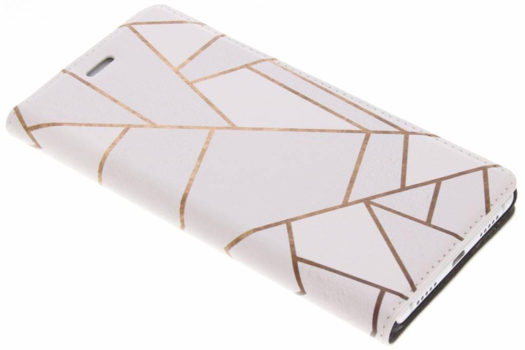 Wit Grafisch Design Booklet voor de Huawei P9 Lite