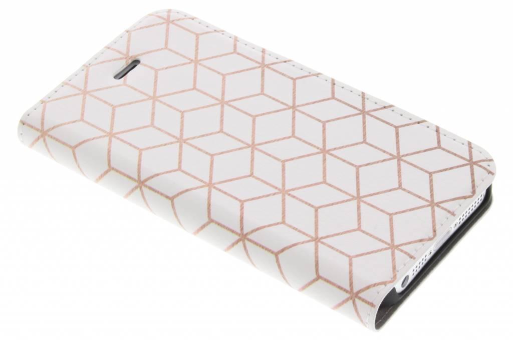Cubes Rose Gold Design Booklet voor de iPhone 5 / 5s / SE
