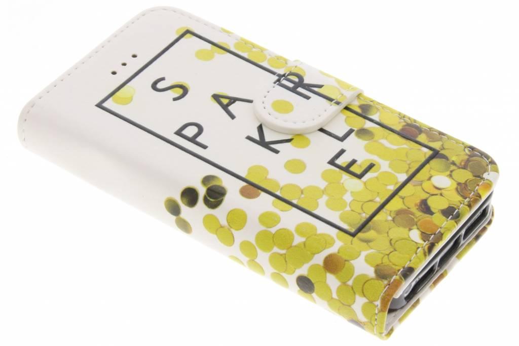 Sparkle design TPU booktype hoes voor de iPhone 5 / 5s / SE
