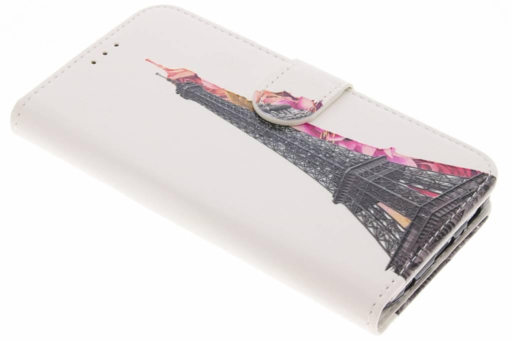 Eiffeltoren design TPU booktype hoes voor de Samsung Galaxy S6