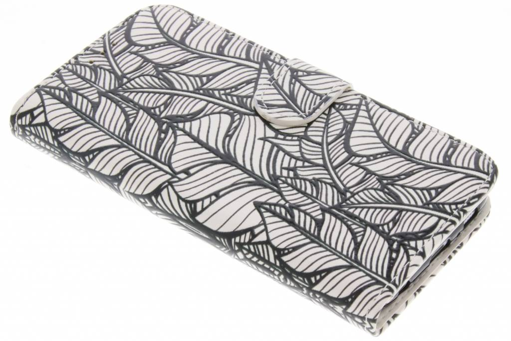 Feathers design TPU booktype hoes voor de Samsung Galaxy S6