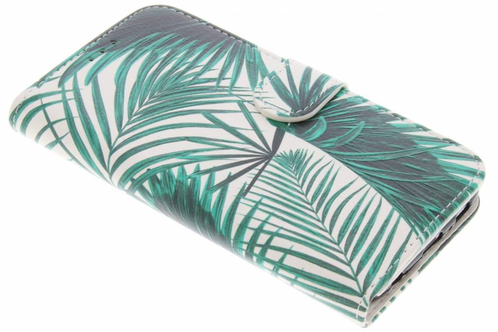 Green Leaves design TPU booktype hoes voor de Samsung Galaxy S6