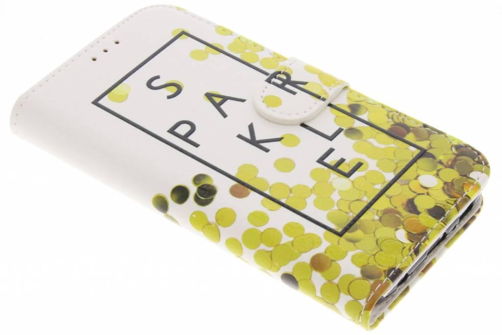 Sparkle design TPU booktype hoes voor de Samsung Galaxy S6