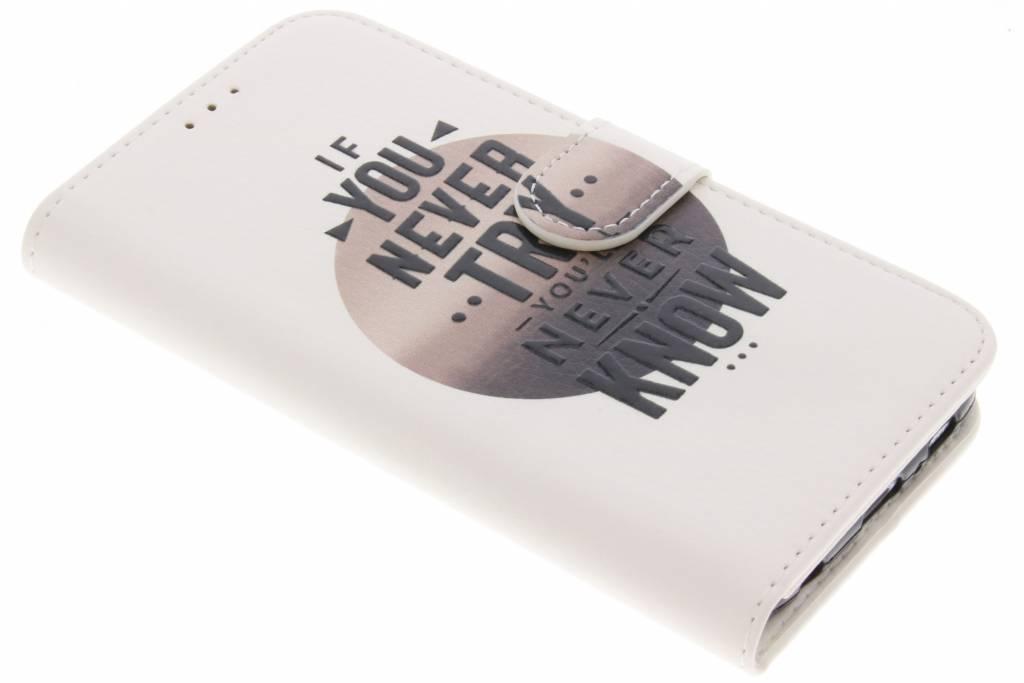 Quote design TPU booktype hoes voor de Samsung Galaxy S6