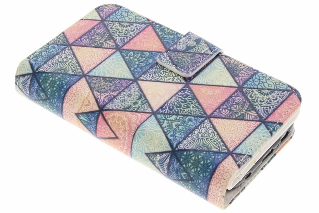 Triangels design TPU portemonnee voor de Samsung Galaxy S6