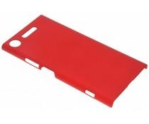 Rood effen hardcase hoesje Sony Xperia XZ1