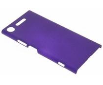 Paars effen hardcase hoesje Sony Xperia XZ1