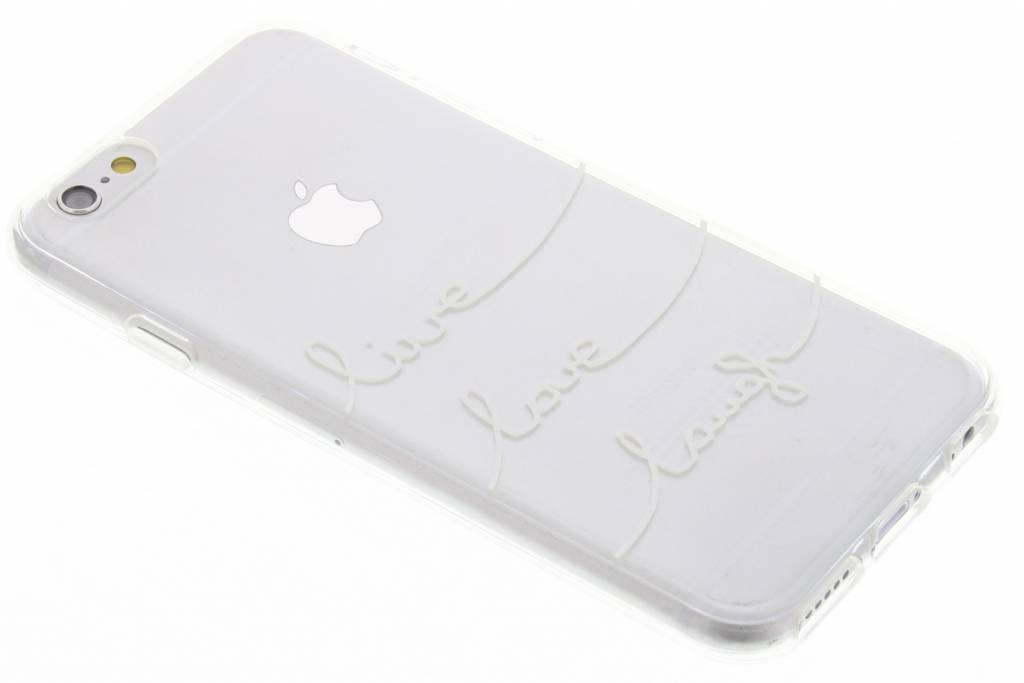 Quote design Live Love Laugh TPU hoesje voor de iPhone 6 / 6s
