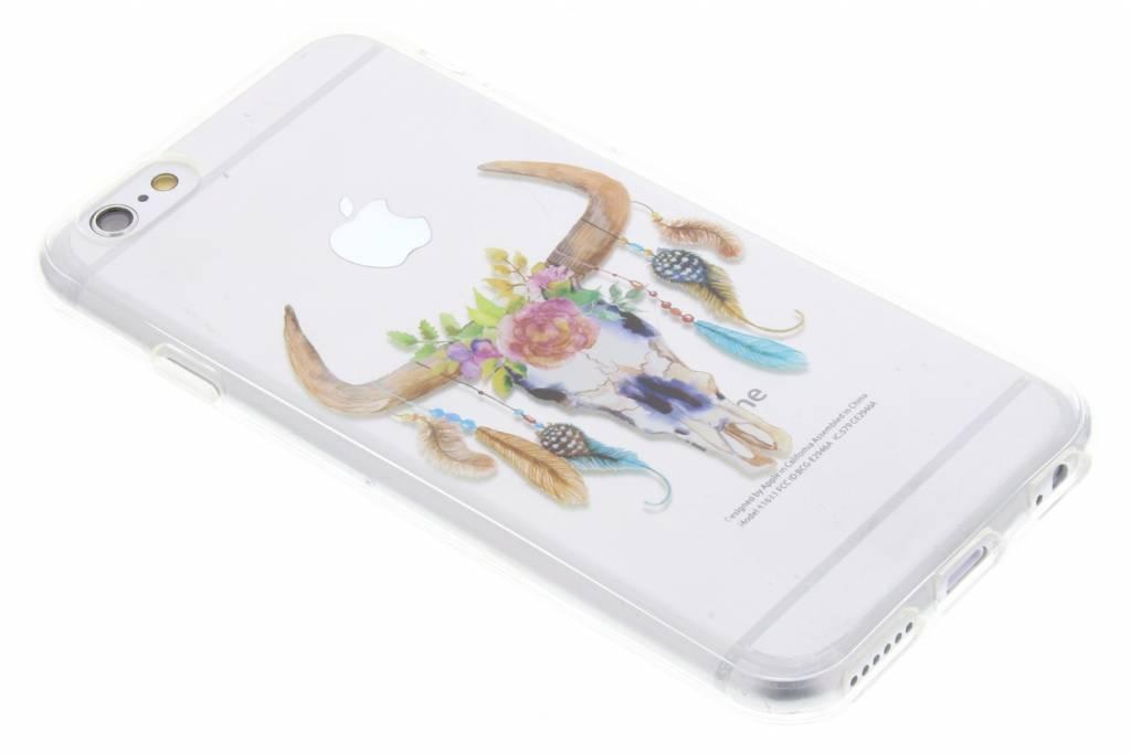 Bull Skull Feathers design TPU hoesje voor de iPhone 6 / 6s