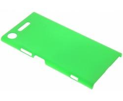 Groen effen hardcase hoesje Sony Xperia XZ1