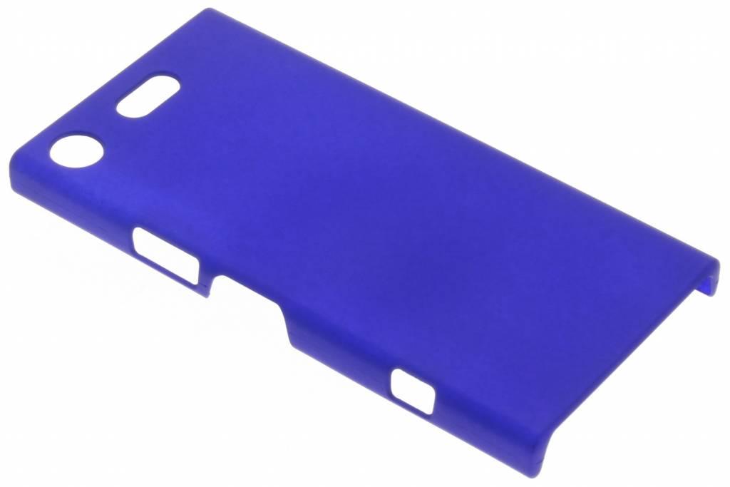 Blauw effen hardcase hoesje voor de Sony Xperia XZ1 Compact