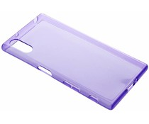 Paars transparant gel case Sony Xperia XZ / XZs
