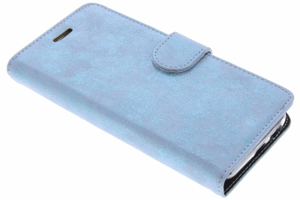 Accezz Blauwe Glitter Wallet TPU Booklet voor de Samsung Galaxy A5 (2017)