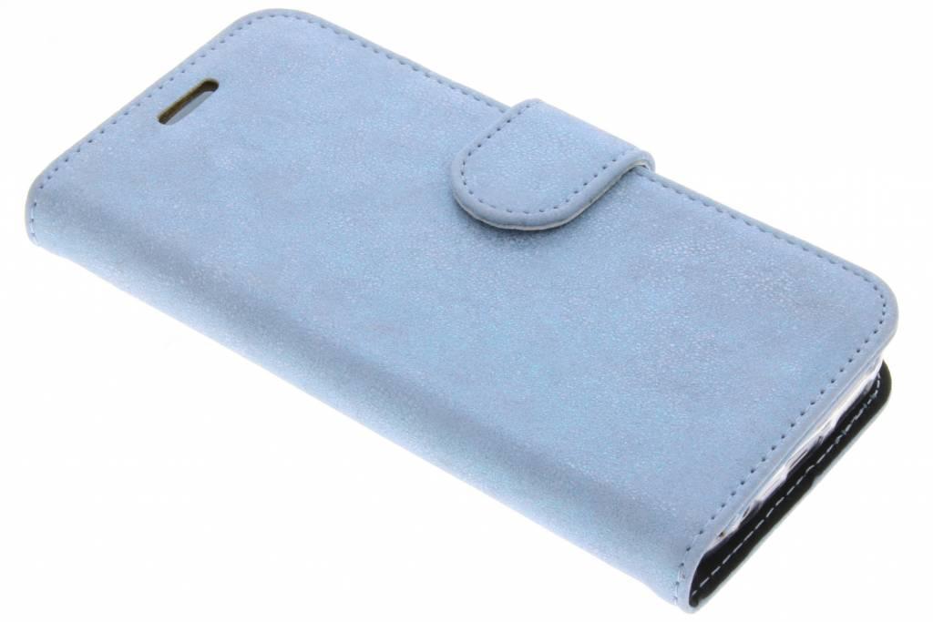 Accezz Blauwe Glitter Wallet TPU Booklet voor de Samsung Galaxy S7