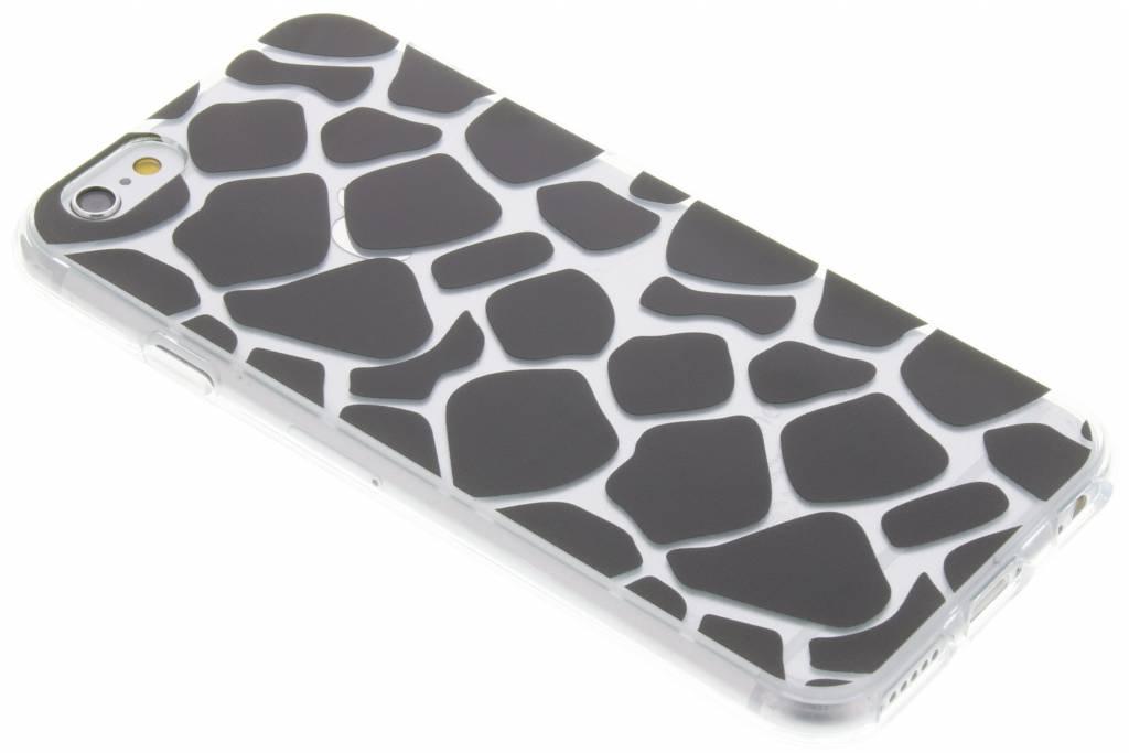 Zwart dierenprint design Giraffe TPU hoesje voor de iPhone 6 / 6s