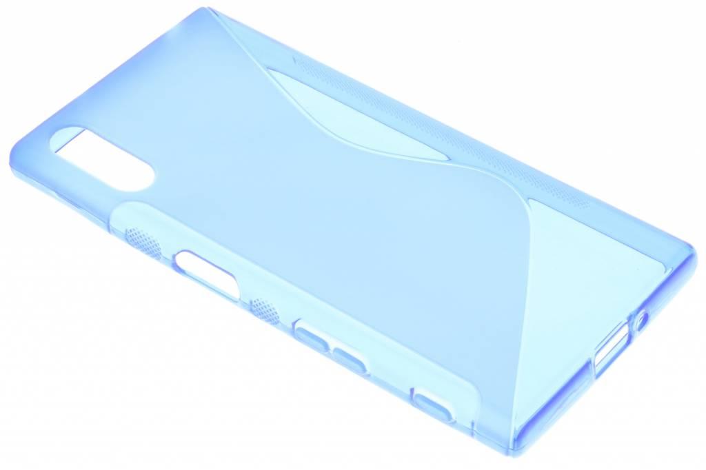 Blauw S-line TPU hoesje voor de Sony Xperia XZ / XZs