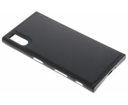 Zwart lederen TPU case Sony Xperia XZ / XZs