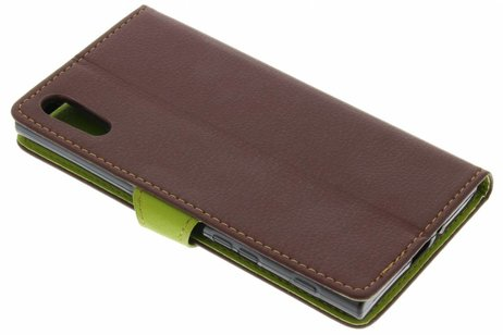 Qin Smart Type De Livre En Cuir Pour Sony Xperia Xz / Xzs - Brown NKmIwPp