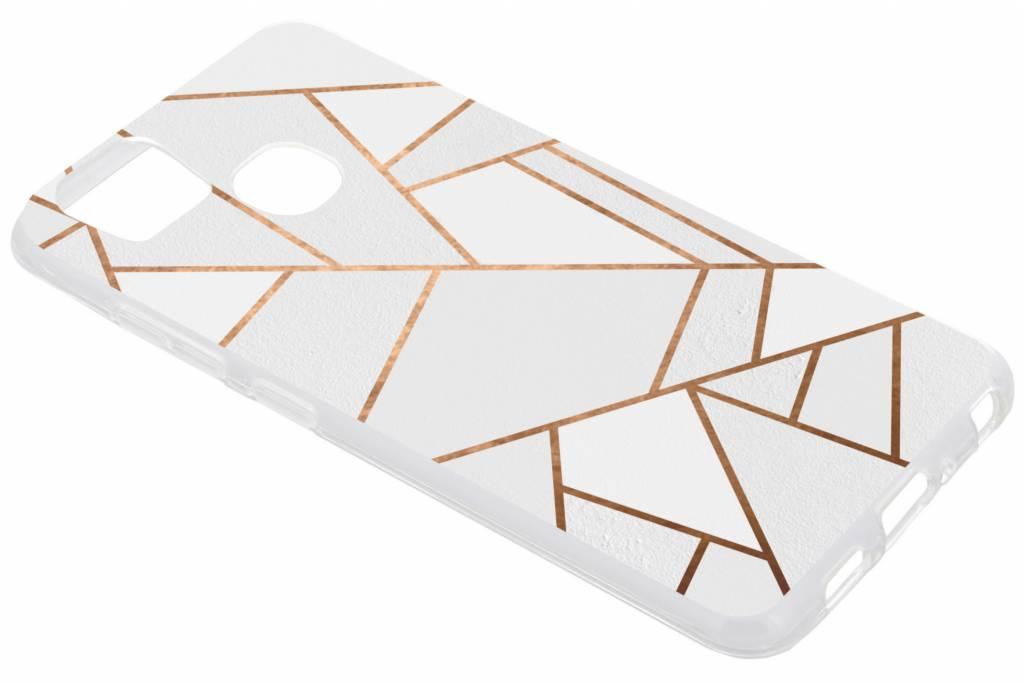 Wit Grafisch design TPU hoesje voor de Asus Zenfone 3 Zoom / Zoom S