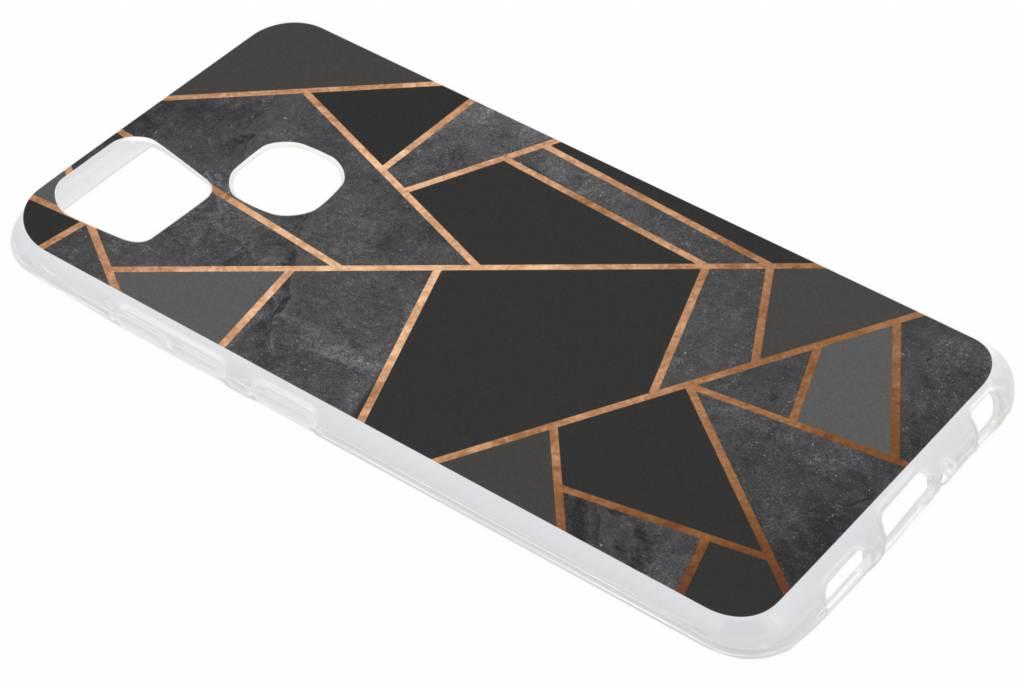 Zwart Grafisch design TPU hoesje voor de Asus Zenfone 3 Zoom / Zoom S