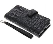 Zwart Krokodil Wallet Case Sony Xperia XZ / XZs